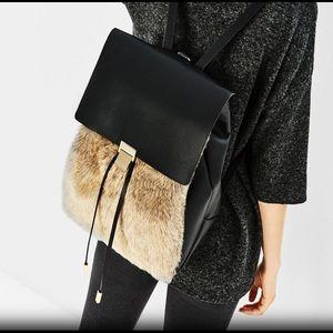 Zara Faux Fur Backpack 🎒